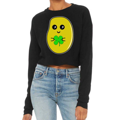 Lucky Potato Cropped Sweater Designed By Brave Tees