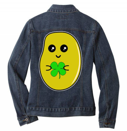 Lucky Potato Ladies Denim Jacket Designed By Brave Tees