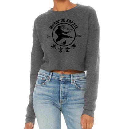 The Karate Kid Vintage Miyagi Do Cropped Sweater Designed By Joe Art
