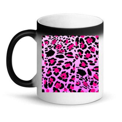 Bright Leopard  Pink Colofull Magic Mug Designed By Mrt90