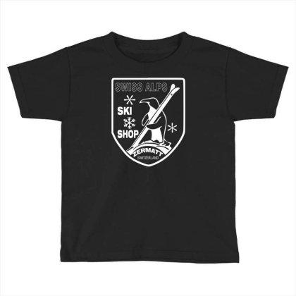 Swiss Alps Ski Toddler T-shirt Designed By Wanzinx