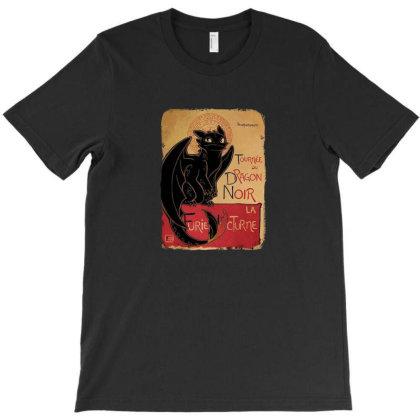 Le Dragon Noir T-shirt Designed By Nitansh