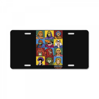 Masters Of The Universe Character Heads License Plate