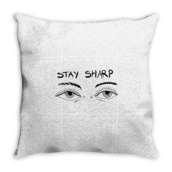 Stay sharp, Eyes Throw Pillow | Artistshot