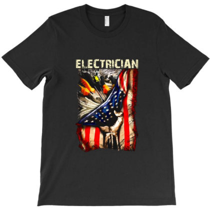 American Electrician Worship The Us Flag T-shirt Designed By Jackquelywestday