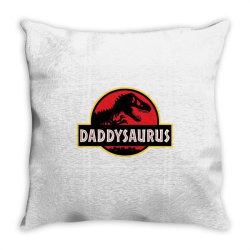 daddy dinosaur t rex  gifts for dad from kids proud daddysaurus gifts Throw Pillow | Artistshot