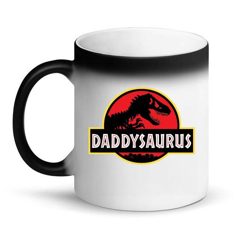Daddy Dinosaur T Rex  Gifts For Dad From Kids Proud Daddysaurus Gifts Magic Mug   Artistshot