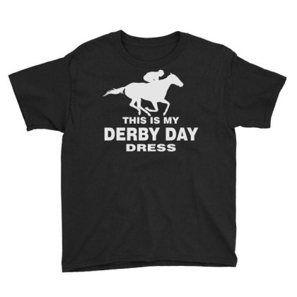 Derby Day 2021, Horse Kentucky This Is My Derby Day Dress Youth Tee Designed By Black Coffee