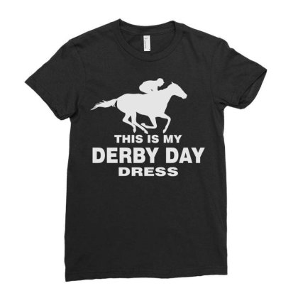 Derby Day 2021, Horse Kentucky This Is My Derby Day Dress Ladies Fitted T-shirt Designed By Black Coffee