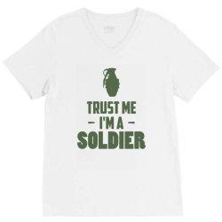 trust me i'm a soldier1 V-Neck Tee | Artistshot
