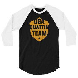 usa quattin team 3/4 Sleeve Shirt | Artistshot