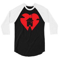where the heart is 3/4 Sleeve Shirt | Artistshot