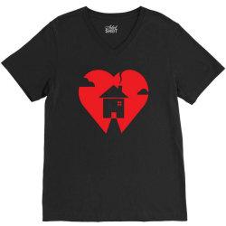 where the heart is V-Neck Tee | Artistshot
