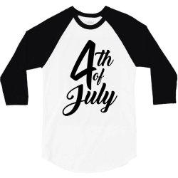 4th of july celebrate america 3/4 Sleeve Shirt | Artistshot