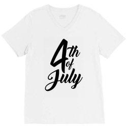4th of july celebrate america V-Neck Tee | Artistshot