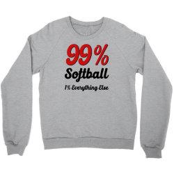 99 % softball Crewneck Sweatshirt | Artistshot