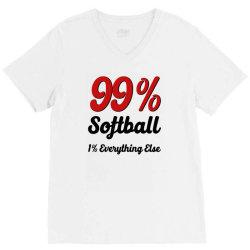 99 % softball V-Neck Tee | Artistshot
