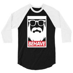 behave funny 3/4 Sleeve Shirt | Artistshot