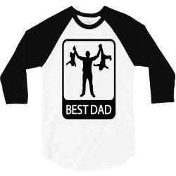 best dad funny 3/4 Sleeve Shirt | Artistshot