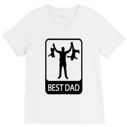 best dad funny V-Neck Tee | Artistshot