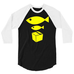 big fish little fish cardboard box 3/4 Sleeve Shirt   Artistshot