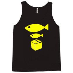 big fish little fish cardboard box Tank Top   Artistshot