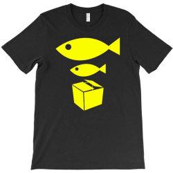 big fish little fish cardboard box T-Shirt   Artistshot