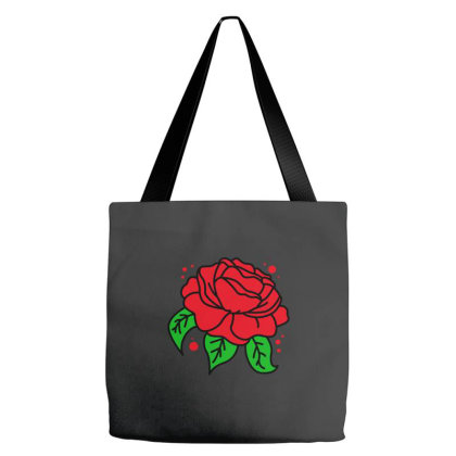 Red Rose Tote Bags Designed By Blackacturus
