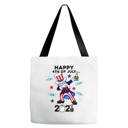 Dabbing Uncle Sam In A Mask 4th Of July 2021 Tote Bags Designed By Jessicafreya