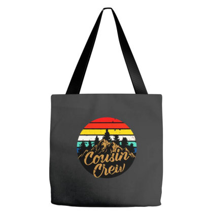 Cousin Crew Camping Outdoor Sunset Summer Camp Tote Bags Designed By Jessicafreya