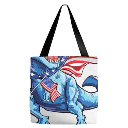 Dinosaur 4th Of July T Rex Shirt A.me.ri.sau.rus  Ameri   Flag T Shirt Tote Bags Designed By Nhan0105