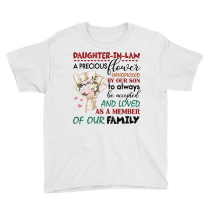 Daughter In Law A Precious Flower Handpicked By Our Son To Always To A Youth Tee Designed By Hoainv