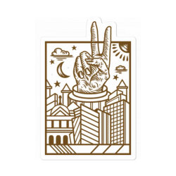 Geometric Peace City Sticker Designed By Tmax