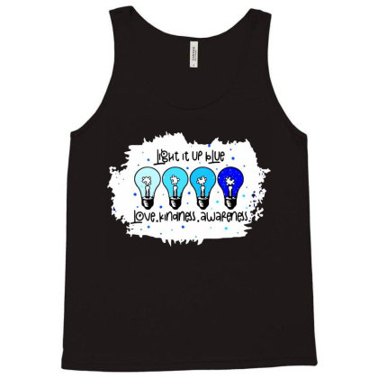 Light It Up Blue Love Kindness Awareness Tank Top Designed By Jessicafreya