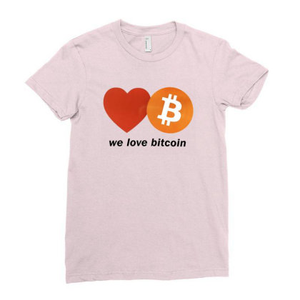 Digital Currency Ladies Fitted T-shirt Designed By Weikay Wonderland