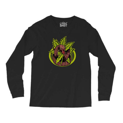 Cannabis Snake Long Sleeve Shirts Designed By Andypp