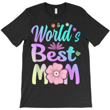 World Best Mom T-shirt Designed By Koopshawneen