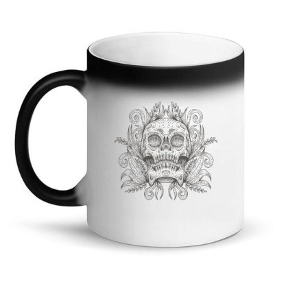 Skull Decoration Magic Mug Designed By Andypp