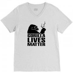 Gorilla Lives Matter V-Neck Tee   Artistshot