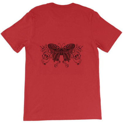 Deco Butterfly Line Draft T-shirt Designed By Hjarts