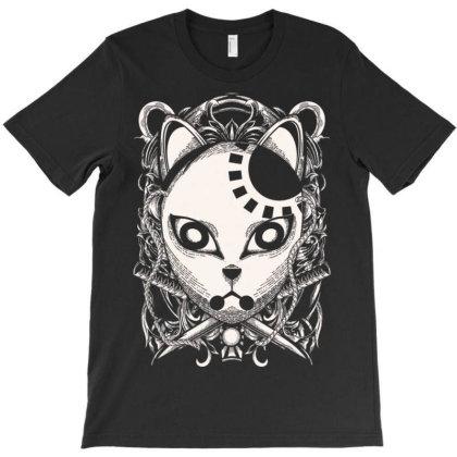 Engraving Demon Mask T-shirt Designed By Koopshawneen