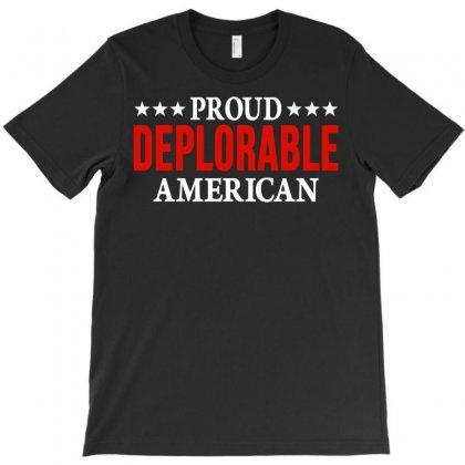 Proud Deplorable American T-shirt Designed By Gringo