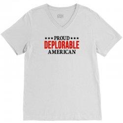 Proud Deplorable American V-Neck Tee | Artistshot