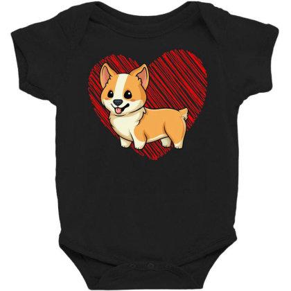 Baby C.o.r.gi With Heart, Dog Love R Dad Mom, Boy Girl Funny T Shirt Baby Bodysuit
