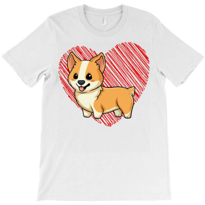 Baby C.o.r.gi With Heart, Dog Love R Dad Mom, Boy Girl Funny T Shirt T-shirt Designed By Time5803