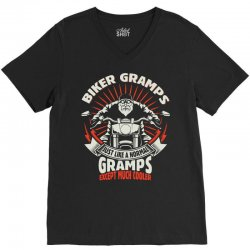 Biker Gramps V-Neck Tee | Artistshot