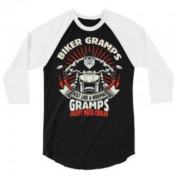 Biker Gramps 3/4 Sleeve Shirt | Artistshot