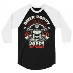 Biker Poppy 3/4 Sleeve Shirt | Artistshot
