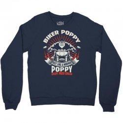 Biker Poppy Crewneck Sweatshirt | Artistshot