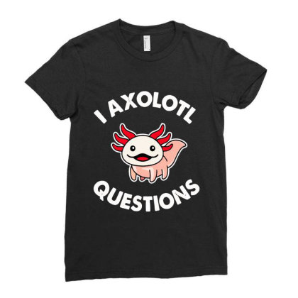 Axolotl Gift Ladies Fitted T-shirt Designed By Tht